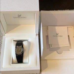 Black Swarovski watch